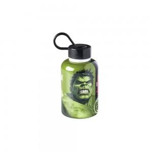 Imagem do produto - Garrafa de Plástico 280 ml com Tampa Rosca e Pegador Fixo Cilíndrica Avengers Hulk