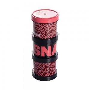 Imagem do produto - Conjunto Organizador de Plástico Empilhável com Tampa Rosca 3 Unidades Fitness