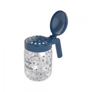 Imagem do produto - Porta Queijo Ralado de Plástico com Alça 450 ml Fazenda Azul