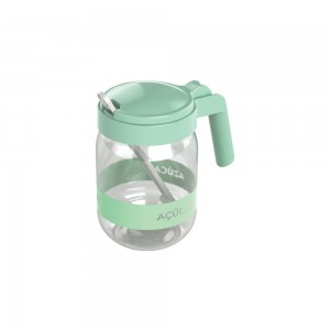 Imagem do produto - Açucareiro de Plástico com Alça e Colher 450 ml Verde