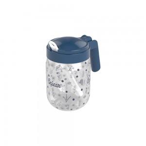 Imagem do produto - Açucareiro de Plástico com Alça e Colher 450 ml Fazenda Azul