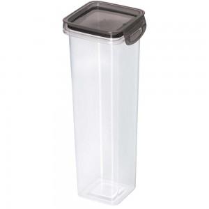 Imagem do produto - Porta Mantimentos Quadrado Trava Mais Cristal 1,6 L Preto