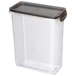 Imagem do produto - Porta Mantimentos Retangular Trava Mais Cristal 3 L Preto