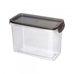 Imagem do produto - Porta Mantimentos Retangular Trava Mais Cristal 1,9 L Preto