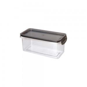 Imagem do produto - Porta Mantimentos Retangular Trava Mais Cristal 875 ml Preto