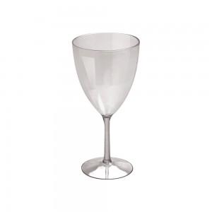 Imagem do produto - Taça de Plástico 330 ml Vinho Cristal Fumê