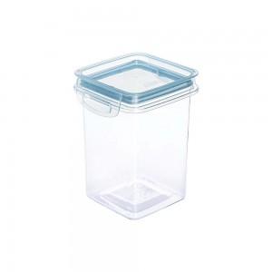 Imagem do produto - Porta Mantimentos Quadrado Trava Mais Cristal 830 ml Azul