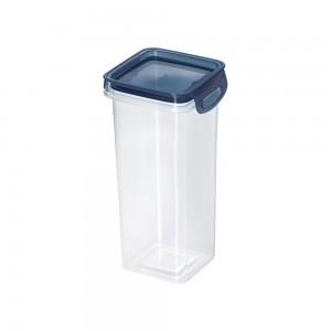 Imagem do produto - Porta Mantimentos Quadrado Trava Mais Cristal 1,24 L Azul