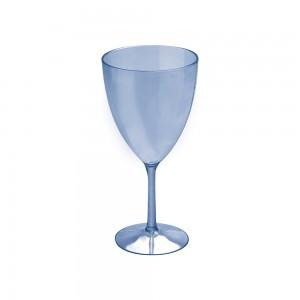 Imagem do produto - Taça de Plástico 330 ml Vinho Cristal Azul