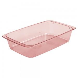 Imagem do produto - Travessa de Plástico 1,4 L Retangular Cristal Rosa