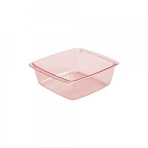 Imagem do produto - Travessa de Plástico 520 ml Quadrada Cristal Rosa