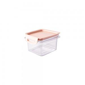 Imagem do produto - Porta Mantimentos Quadrado Trava Mais Cristal 380 ml Rosa
