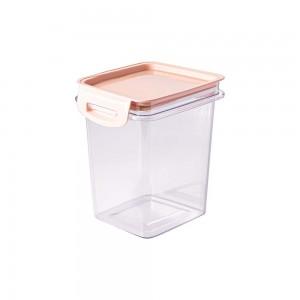 Imagem do produto - Porta Mantimentos Quadrado Trava Mais Cristal 830 ml Rosa
