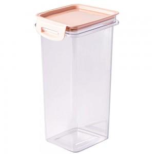 Imagem do produto - Porta Mantimentos Quadrado Trava Mais Cristal 1,24 L Rosa