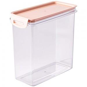 Imagem do produto - Porta Mantimentos Retangular Trava Mais Cristal 3 L Rosa