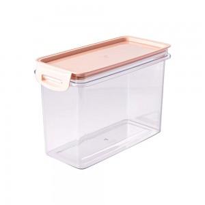 Imagem do produto - Porta Mantimentos Retangular Trava Mais Cristal 1,9 L Rosa