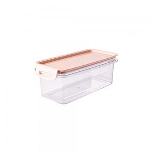 Imagem do produto - Porta Mantimentos Retangular Trava Mais Cristal 875 ml Rosa