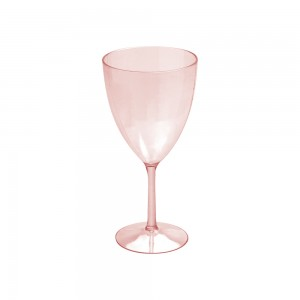 Imagem do produto - Taça de Plástico 330 ml Vinho Cristal Rosa