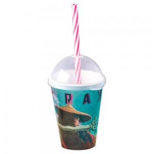 Imagem do produto - Copo Shake de Plástico 280 ml com Tampa e Canudo Raya e o Último Dragão