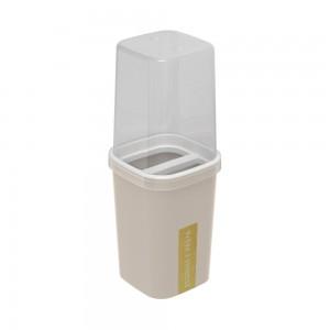 Imagem do produto - Porta Escovas e Creme Dental de Plástico com Tampa Classic Fosca Nude