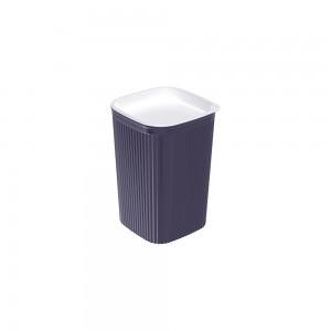 Imagem do produto - Porta Cotonete ou Algodão de Plástico Classic Frisos Azul