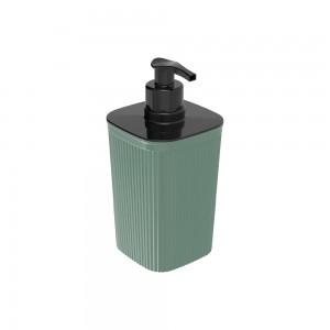 Imagem do produto - Porta Sabonete Líquido de Plástico 420 ml Classic Frisos Verde