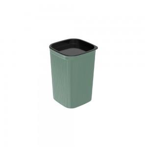 Imagem do produto - Porta Cotonete ou Algodão de Plástico Classic Frisos Verde