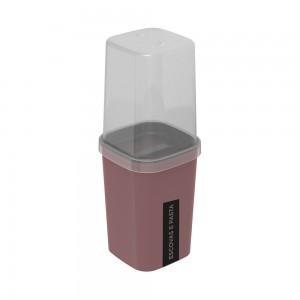 Imagem do produto - Porta Escovas e Creme Dental de Plástico com Tampa Classic Fosca Cassis