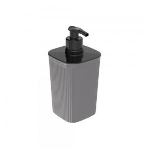 Imagem do produto - Porta Sabonete Líquido de Plástico 420 ml Classic Frisos Cinza