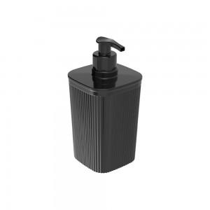 Imagem do produto - Porta Sabonete Líquido de Plástico 420 ml Classic Frisos Preto