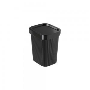 Imagem do produto - Lixeira de Plástico com Tampa 4,5 L Classic Frisos Preto