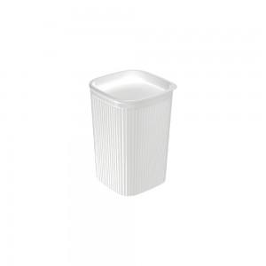 Imagem do produto - Porta Cotonete ou Algodão de Plástico Classic Frisos Branco