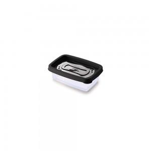 Imagem do produto - Pote de Plástico Retangular 180 ml Clic Preto