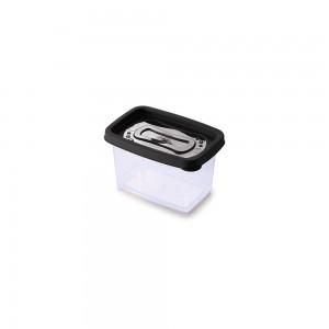 Imagem do produto - Pote de Plástico Retangular 430 ml Clic Preto