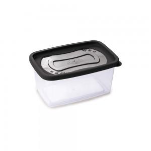 Imagem do produto - Pote de Plástico Retangular 1,2 L Clic Preto