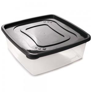 Imagem do produto - Pote de Plástico Quadrado 6,6 L Clic Preto