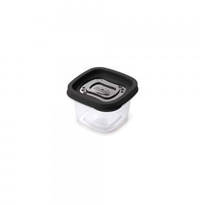 Imagem do produto - Pote de Plástico Quadrado 200 ml Clic Preto