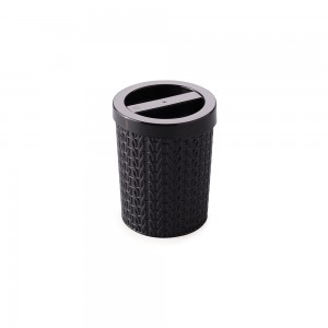 Imagem do produto - Porta Cotonete de Plástico Trama Preto