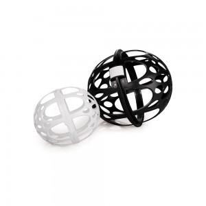Imagem do produto - Protetor de Plástico para Roupas Finas com 2 Esferas e Trava Preto