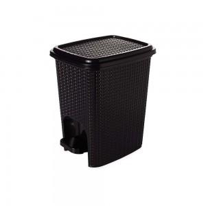 Imagem do produto - Lixeira de Plástico 7 L com Pedal Trama Preto