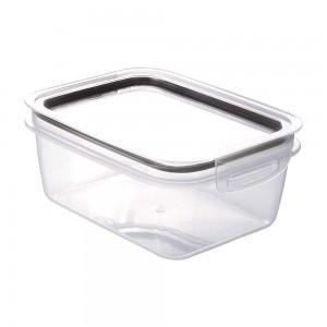 Imagem do produto - Pote de Plástico Retangular 1,3 L Hermético Trava Mais Preto