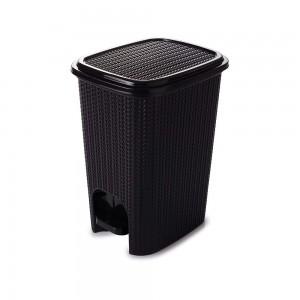 Imagem do produto - Lixeira de Plástico 12 L com Pedal Trama Preto