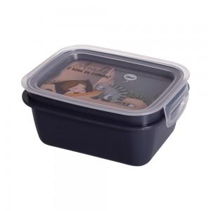 Imagem do produto - Marmita de Plástico 630 ml com Divisória Removível e Travas Laterais Cute Pets
