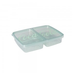 Imagem do produto - Pote de Plástico Retangular 1 L com 2 Divisórias Clic Coca-Cola