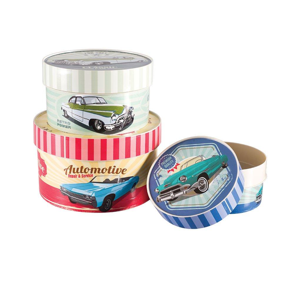 Imagem do produto - Conjunto de Caixas de Plástico Redondas Garagem 3 Peças
