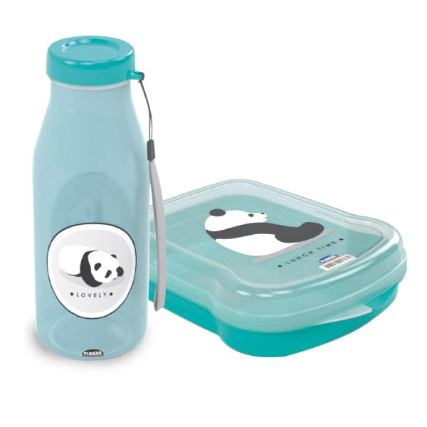 Imagem do produto - Garrafa 580 ml e Sanduicheira Cute Panda