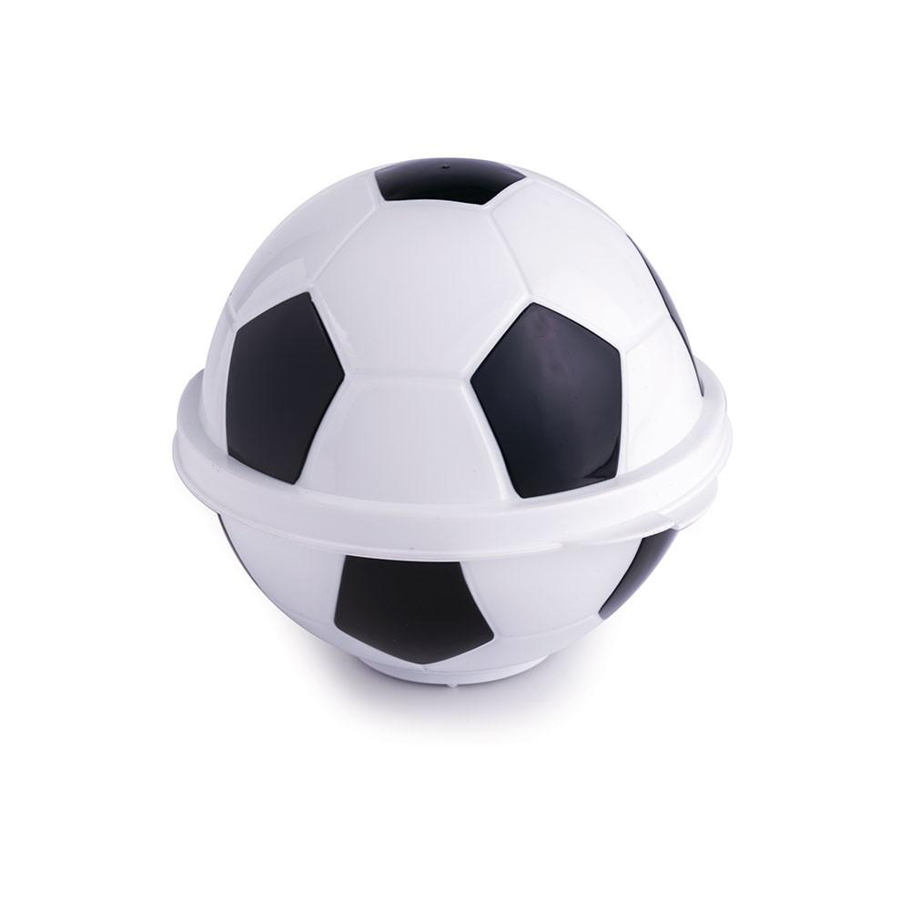 Pote de Plástico com Tampa Fixa em Formato de Bola de Futebol 005237-1031 -  Preto e Branco - Loja Plasútil ebdb9099a3f73