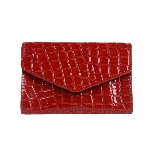 Carteira Pequena Vermelha com Porta-Cartão V20