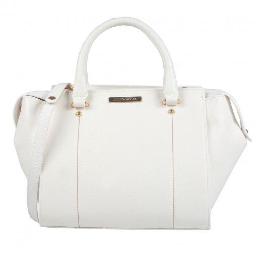 Bolsa Branca com Pesponto