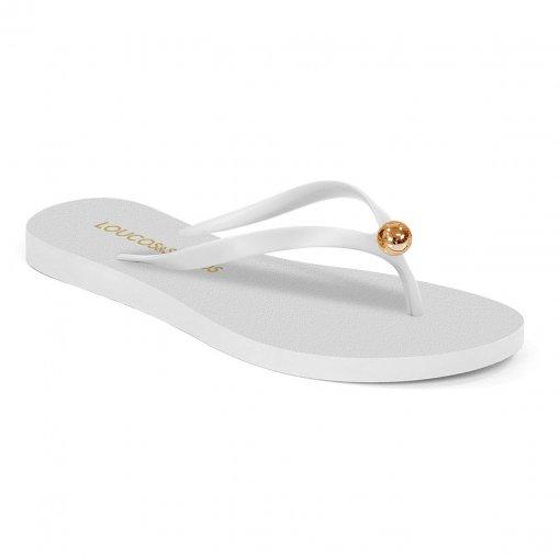 Chinelo flat branco I19